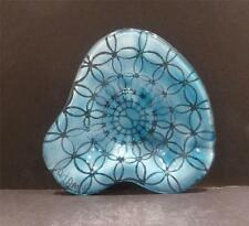 Studio Glass Blue Modern Design Ashtray by Adams - MINT