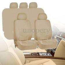 Universal Car Seat Covers Protectors Full 9 Piece Set Washable Beige Waterproof