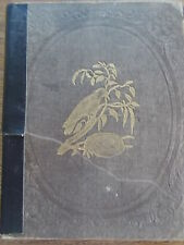 1840 Antique Book BRITISH BIRDS Religious Tract Society 23 Engravings Plates