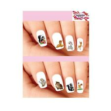 Waterslide Nail Decals Art Set of 20 - Bambi, Thumper, Flower & Owl Assorted