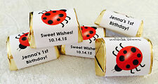 120 LADYBUG NUGGET CANDY WRAPPERS/LABELS PERSONALIZED for birthday party FAVORS