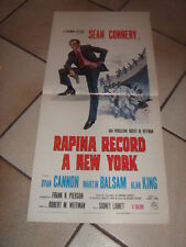LOCANDINA  RAPINA RECORD A NEW YORK SEAN CONNERY BALSAM Anderson Tapes Lumet