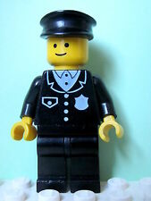 LEGO Minifig cop015 @@ Police Suit with 4 Buttons, Black Hat 6390 6396 10041