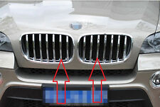 New Chrome Front Grille Cover Trim For BMW X5 E70 2008-2013