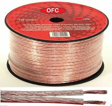 OFC Cable De Altavoces 10m 2 X 1.5mm Genuino Libre Oxígeno Cobre Vestidas audio