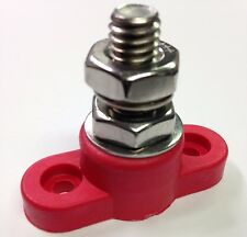 """Red Junction Block Power Post Insulated Terminal Stud 3/8"""" Stainless"""