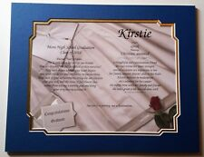 PERSONALIZED POEM HIGH SCHOOL / COLLEGE GRADUATION GIFT w/ Dual Mat Border
