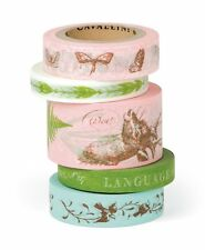 Cavallini FLORA & FAUNA DECORATIVE PAPER TAPE assort 5 roll/16 yards per roll