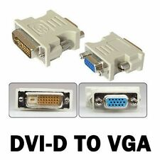 DVI-D 24+1 25 Pin Male To VGA 15 Pin Female Video Converter Adapter - D3