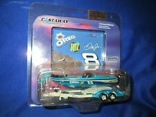 Nitro speed Boat trailer bass dale jr 8 action OREO diecast Racing mercury 1/64