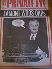 PRIVATE EYE MAGAZINE NUMBER 816 MAR 1993 NORMAN LAMONT WOOS OAPs