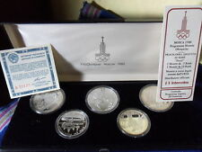RUSSIAN URSS OLYMPIAD MOSCOW RUSSIA MOSCA MOKBA 1980 PROOF SET 5 PZ.
