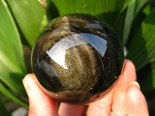 "328g RARE NATURAL ""golden Obsidian"" quartz crystal sphere ball healing"
