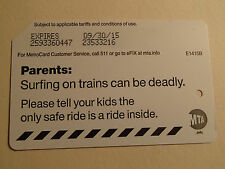Surfing On Trains Can Be Deadly MTA Transit NY NYC Subway Expired Metrocard
