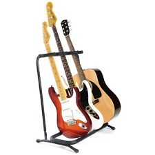 BRAND NEW - 3 Way Multi Guitar Padded Rack Holder Stand Electric Acoustic Bass