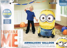 """Despicable Me Minion Airwalker 43"""" Birthday Foil Balloon Party Supply Favors"""