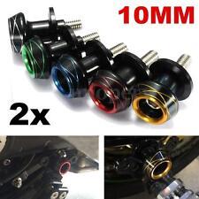 2x 10MM CNC Aluminum Motorcycle Swing Arm Paddocks Stand Bobbins Spools Sliders