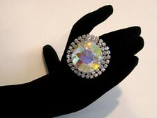 Adjustable Crystal AB Rhinestone Ring Drag Queen SSRD-1-AB/S
