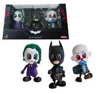 Hot Toys Batman Joker Cosbaby Dark Knight Mini Figure Set of 3 Toy Gift