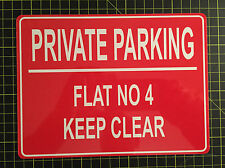 PERSONALISED PRIVATE NO PARKING METAL SIGN ANY COLOUR AND TEXT