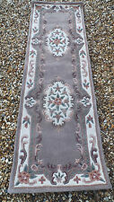 SHENSI DYNASTY chinese style. traditional. PURE NEW WOOL RUNNER RUG 67 X 200CM