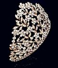 Golden Bridal Pageant Wedding Prom Crystal Queen Crown Tiara Headpiece A01