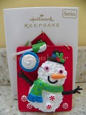 2012 Hallmark Season's Treatings Snowman Christmas Series Ornament