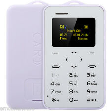 "AIEK C6 1.0"" Card Phone Bluetooth 2.0 Calender Alarm Calculator"