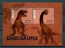 Bequia Grenadines St Vincent 2013 MNH Dinosaurs 2v S/S Tyrannosaurus Rex Stamps