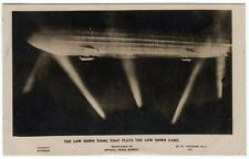 WW1 ZEPP ZEPPELIN Low Down Thing Playing Low Down Game Aviation Photo Postcard
