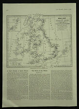 Ship Wreck Chart For 1905-06 And Showing All Life Boat Stations 1 Page Article