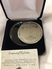 STAR WARS Medallion LIMITED Edition DCL Coin Disney Cruise line Nickel plated