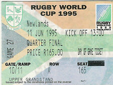 ENGLAND v AUSTRALIA 1995 RUGBY WORLD CUP TICKET 11 Jun, CAPE TOWN QUATER FINAL