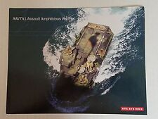 AAV7A1 Assault Amphibious Vehicle Data Sheet / BAE Systems NEW Style 2