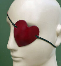 Heart Shaped RED Leather Eye Patch Eyepatch Halloween Costume Mask Pirate