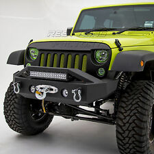 "07-17 Wrangler JK Stubby Rock Crawler Front Bumper+ 21""~ 22"" Light Bar LED Mount"