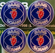 Saab Scania wheel center cap set x4