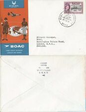 Fiji 1965/1985 Two covers Flight to England and DC10 Nandi to Los Angeles