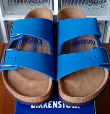 Birkenstock ARIZONA 057801 size 42/L11M9 R Blue Nubuck Soft Footbed Sandals