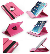 iPad Air Case Rotating Vegan Leather Case/Stand with Dual On/Off Switch- HotPink
