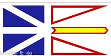 NEWFOUNDLAND / LABRADOR CANADA VINYL FLAG DECAL STICKER