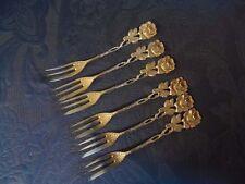 6 kuchengabeln rosas patrón Hildesheimer Rose CB 835er plata