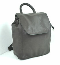 BUFF COW BROWN GENUINE LEATHER  BACKPACK BRASS HARDWARE MADE IN INDIA