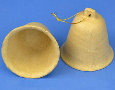 SALE - 6 Paper Mache Hanging Bells for Decopatch and Crafts