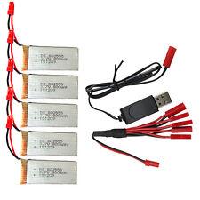 5pcs 3.7V 800mAh Batería+1to5 JST Clavija Cargador+USB Alambre Para JJRC A62