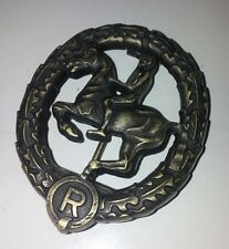 German Horseman's Badge in Bronze with pin and catch