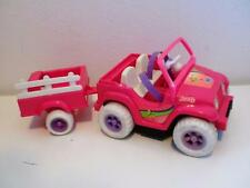 VINTAGE BARBIE SHELLY POWER Wheels Fisher Price Giocattolo Auto Rimorchio Per Bambole 1990s