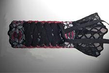 Stülpchen Armstulpen mit Zier Schnürung & Spitze emo gothic sweet lolita punk