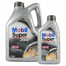 Mobil Super 2000 X1 10W-40 Semi Synthetic Engine Oil 5L+1L : 6 Litres