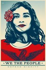 Shepard Fairey Obey Giant We The People Defend Dignity Signed Print Poster